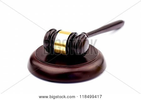 Wooden Judge Gavel And Soundboard