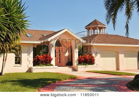 Modern Ranch style home with gazebo