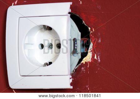 Broken socket