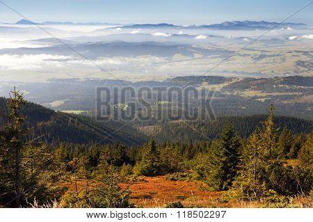 View From Babia Gora Or Babi Hora To Slovakia