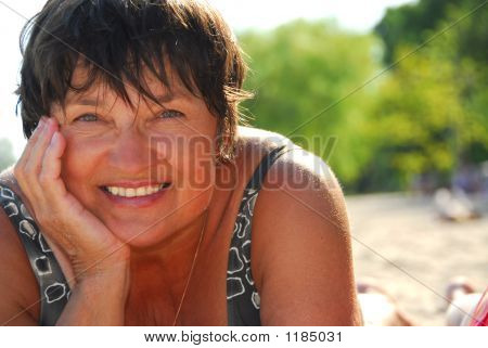Mature Woman Beach