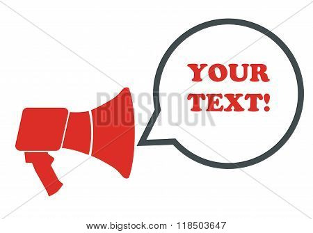 Megaphone With Stop Text.