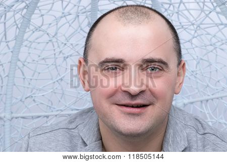 Closeup portrait of a happy man