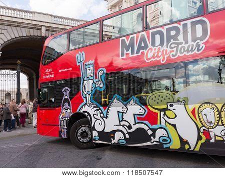 Red Double-decker Tourist Bus, Spain