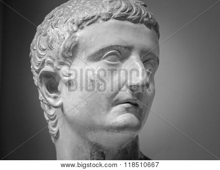 Marble sculpture of the emperor Tiberius