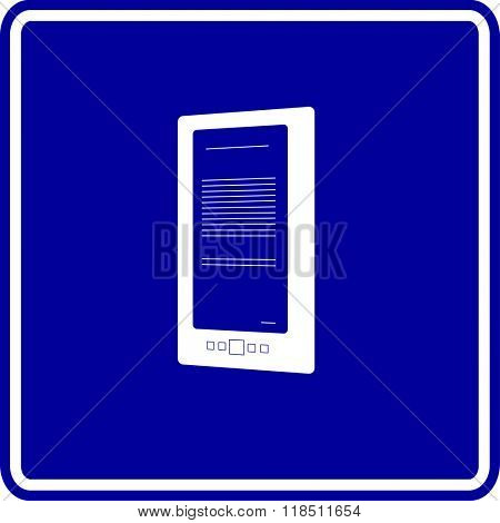 electronic reader sign