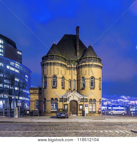 Old Police Station In The Speicherstadt In Hamburg