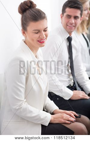 Ambitious Woman Before Interview