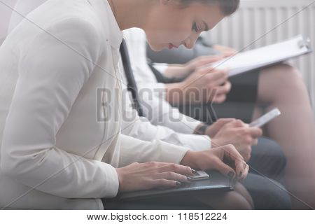 Worker Writing Psychological Test