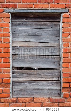Weathered and broken window shutters