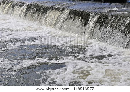 Waterfall on the river.