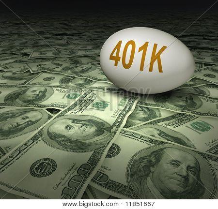 401k retirement symbol