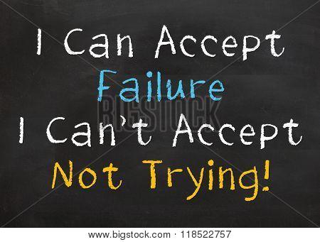 I can Accept Failure