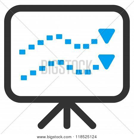 Dotted Trends Board Vector Icon