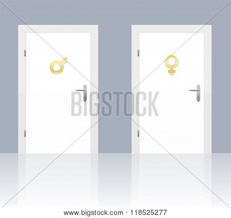 Male Female Symbol On Doors