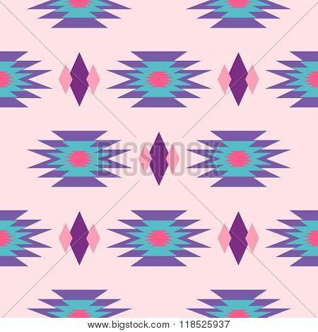 Aztec Indian Geometric Seamless Pattern.