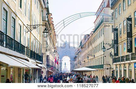 Lisbon Old Town Street