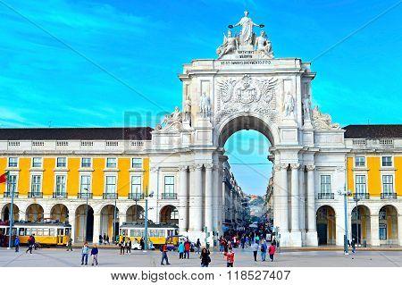 Commerce Square. Lisbon, Portugal