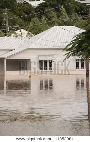 Brisbane, Australia - Jan 13 : Flood  Brisbane Milton Area Queensland Declared Natural Disater Janua