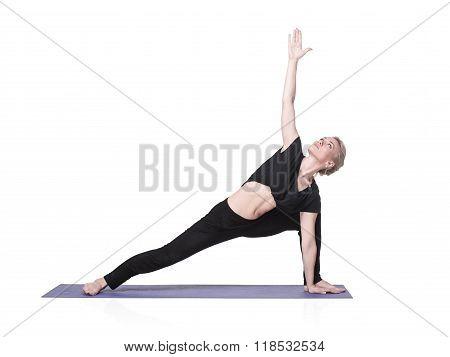 Young Woman Doing Yoga Asana, Isolated