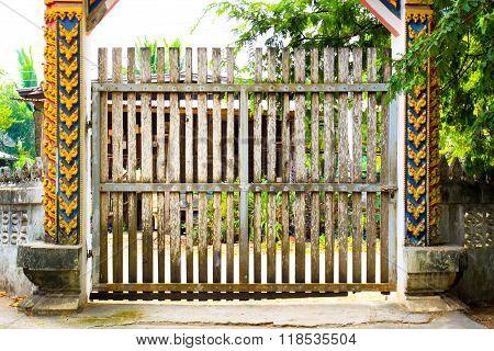 wooden architecture religion door