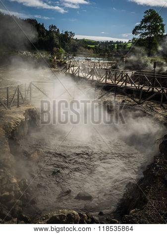 Furnas volcanic thermal springs