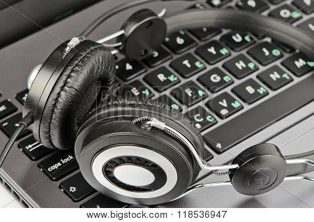 Big Headphones On Keyboard