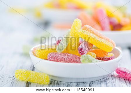 Gummi Candy (sweet And Sour) Selective Focus