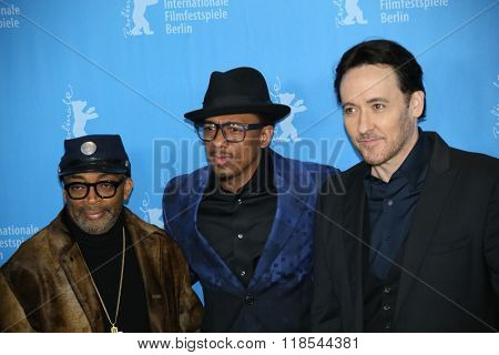 Nick Cannon, John Cusack, Spike Lee  attend the 'Chiraq' premiere during the 66th Berlinale International Film Festival Berlin at Grand Hyatt Berlin Hotel, in Berlin, Germany on February 16, 2016.