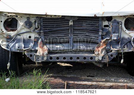 Car wreck.