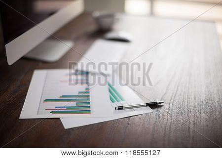 Office Desk Of A Businessman