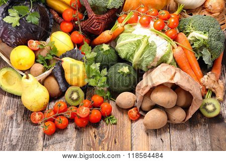 composition with fruit and vegetable
