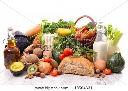 composition with healthy and diet food
