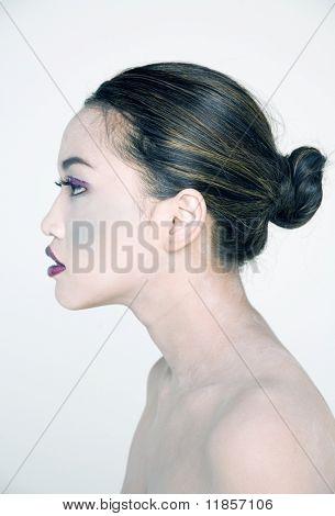 Beautiful young asian woman in makeup