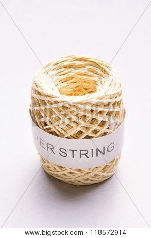 Ball of string paper for gift wrapping