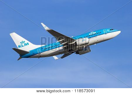 Ph-bgm Klm Royal Dutch Airlines Boeing 737-7K2