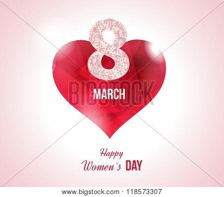 Heart on a light background. International Happy Women's Day