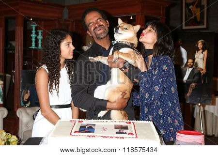 LOS ANGELES - FEB 12:  Lola St John, Kristoff St John, Brando, Paris St John at the Kristoff St John celebrates 25 Years at YnR at the CBS Television City on February 12, 2016 in Los Angeles, CA
