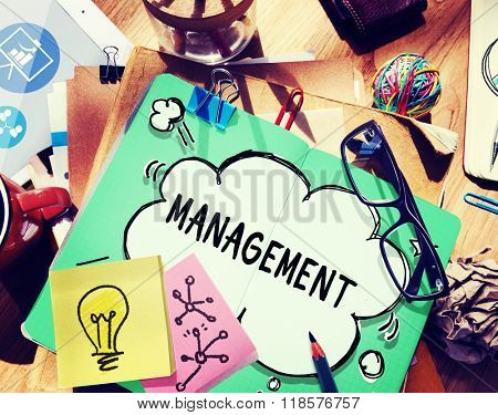 Management Organization Director Managing Customize Concept