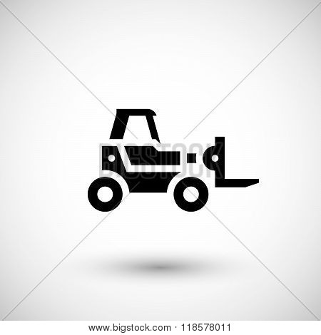 Forklift telescopic loader icon