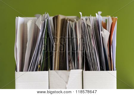 Stack of documents papers