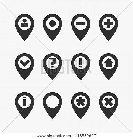 GPS Icons set.