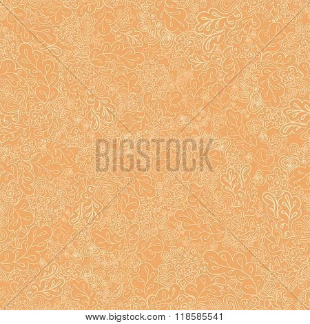 seamless pattern flower and leaf the cream colored