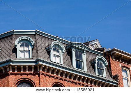 Mansard Roof Under Blue Sky