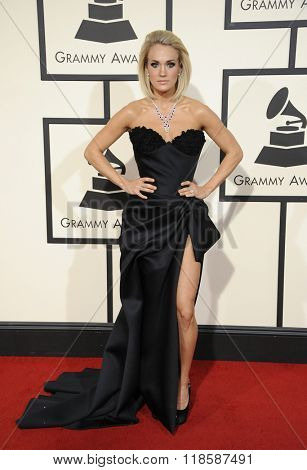Carrie Underwood at he 58th GRAMMY Awards held at the Staples Center in Los Angeles, USA on February 15, 2016.
