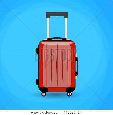 Travel bag isolated on background.