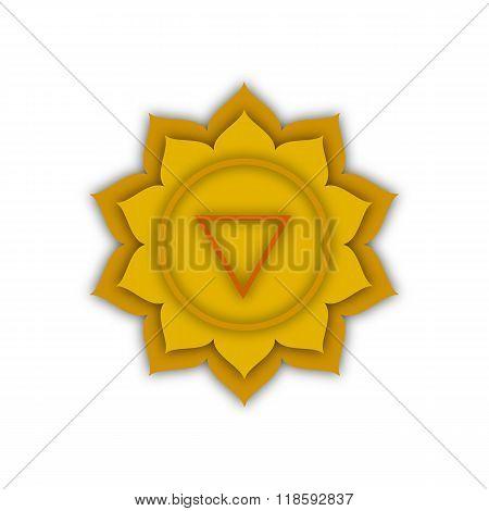 Solar Plexus Chakra Symbol, Illustration