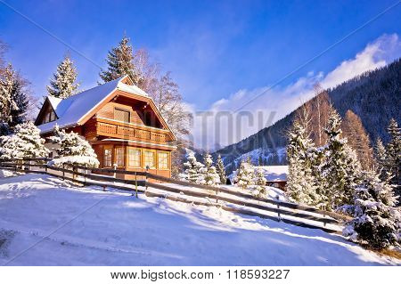 Idyllic Austrian Alps Mountain Village