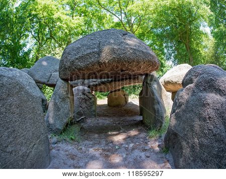 Prehistoric dolmen in The Netherlands