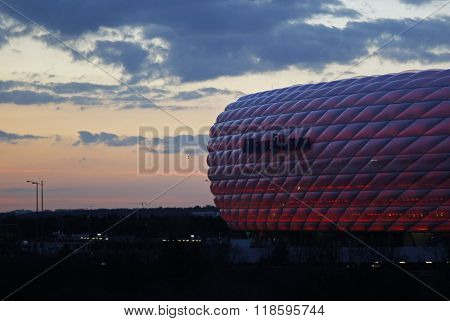 MUNICH, GERMANY - MARCH 11 2015:  A general view of the stadium before the UEFA Champions League match between Bayern Munich and FC Shakhtar Donetsk.